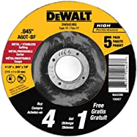 DEWALT DW8424B5 4-1/2-Inch by 0.045-Inch Metal Cutting Wheel, 7/8-Inch Arbor, 5-Pack