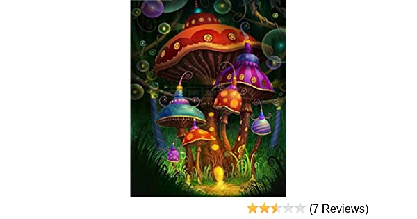 6df2e053cdf6 Amazon.com  Botrong 5D Embroidery Paintings Rhinestone Pasted DIY Diamond  Painting Cross Stitch Arts Craft Supply for Home Wall Decor (12X16inch    30X40CM ...