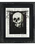 All Is Vanity Human Skull Optical Illusion -All Is Vanity - Printed on Upcycled Vintage Dictionary Paper - 8