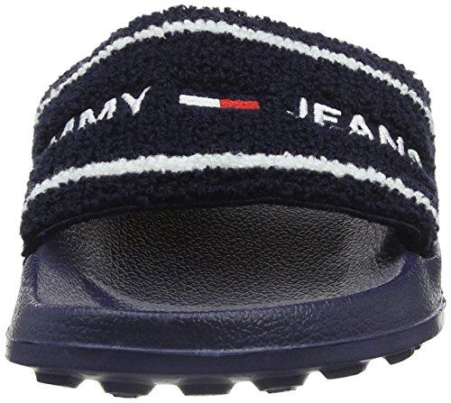 Tommy Femme Mules black Bleu Slide Jeans Beach 431 Iris qqf16