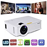 Gzunelic +30% Lumens Mini Led Video Projector Max 180 display Portable Lcd Home Theater Projector Support 1080p Full HD Ideal for Home Entertainment Game