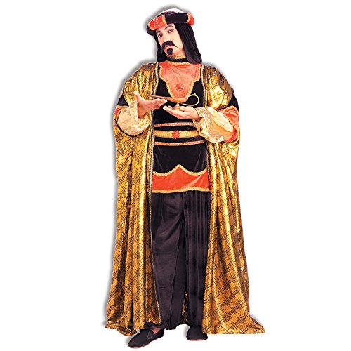 Arab Costumes Sheik Adult (Forum Novelties Royal Sultan Costume, Black/Gold, One)