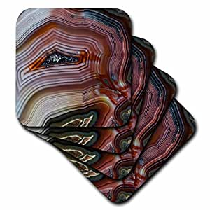 Danita Delimont - Rocks - Banded Agate, Quartzsite, tight layers - set of 8 Coasters - Soft (cst_229609_2)