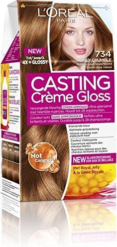 LOréal Paris Casting Crème Gloss 734 Honey Crumble coloración del cabello Marrón - Coloración del cabello (Marrón, Honey Crumble, Bélgica, 73 mm, 83 ...