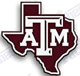 TEXAS A & M AGGIES IRON ON EMBROIDERED EMBROIDERY PATCH PATCHES SCHOOL OF UNIVERSITY STATE COLLEGE NCAA FOOTBALL SPORTS
