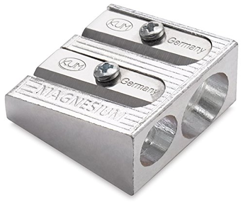 KUM 2-hole Pencil Sharpener Magnesium Alloy Wedge