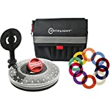 Rotolight Creative Colour Kit with HD LED Stealth Ringlight, Stand & Color FX Filters Also Includes Belt Pouch