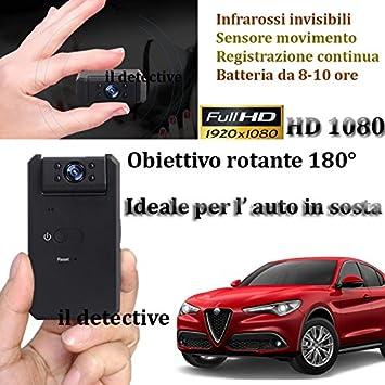 Cámara Espía para coche (sosta oculta cámara espía infrarrojos Sensor Movimiento