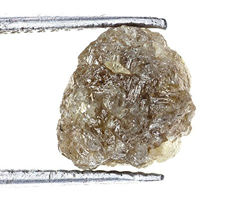 (Kakadiya Group Antique 3.59 TCW Natural SilverReddish Color Rough Diamond for Rough Jewel)