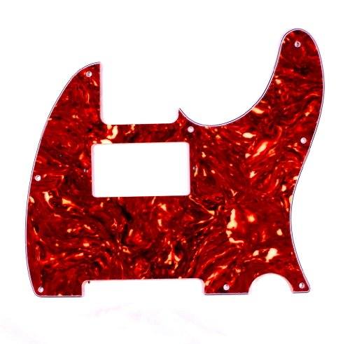 (B23) Guitar Pickguard For Fender Telecaster humbucker cut-out ,4ply Tortoise Red