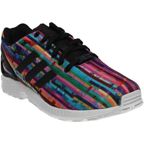 Adidas Originals Menns Zx Flux Mote Sneaker Hvit / Svart / Blå Fugl