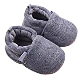Usstore 1Pair Kid Infant Baby Toddler Newborn Anti-slip Soft Sole Shoes (0~6 Month, Gray)