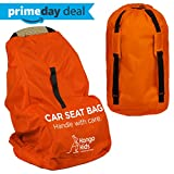 Car Seat Travel Bag -Make Travel Easier & Save Money. Carseat Carrier for Airport - Protect your Child's CarSeats & Stroller from Germs & Damage. Durable, Easy to Carry Padded Backpack