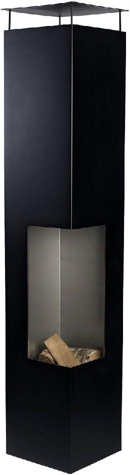 Tacora Gartenkamin 35x35x150 cm Schwarz