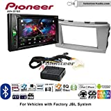 Pioneer AVH-201EX Double Din Radio Install Kit with CD Player Bluetooth USB/AUX Fits 2007-2011 Toyota Camry with Amplified System (Silver)