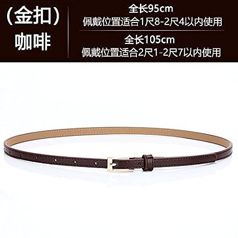 YXLMZ Cinturón de Mujer Piel Cinturón Ancho Elástico Cristal Decoración  Nupcial Boda Hebilla de café Dorado 70cm-90cm  Amazon.es  Hogar b21489d533af