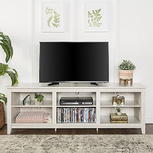New 70 Inch Wide Television Stand in White Wash Finish