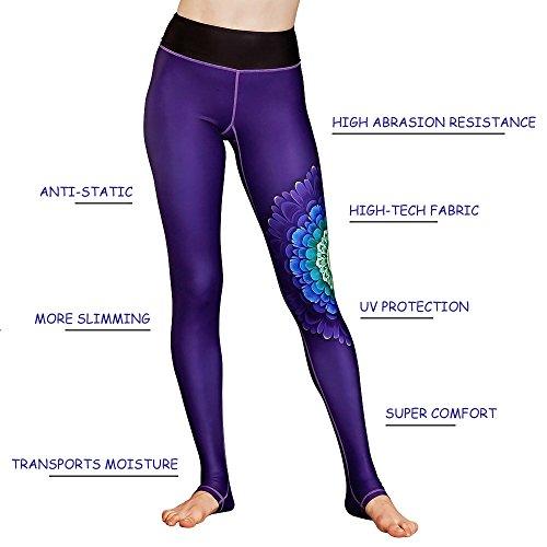 FavoBodinn Printed Yoga Pants For Women High Waist - Ultrasoft Active Stretch Leggings in Full-Length Workout Thin Capris