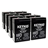 Carpenter Watchman 713526 6V 4Ah SLA Sealed Lead Acid AGM Rechargeable Replacement Battery Genuine KEYKO (W/ F-1 Terminal) - 8 Pack