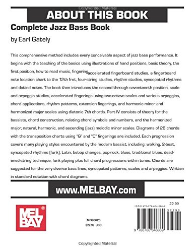 Complete Jazz Bass Book: Earl Gately: 0796279061230: Amazon.com: Books