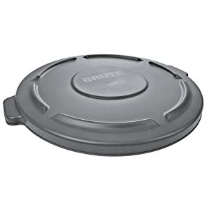 Rubbermaid Brute Can Lid for 20 Gallon, Flat Gray