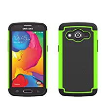 Samsung Galaxy Core LTE SM-G386W Rugged Impact Heavy Duty Dual Layer Shock Proof Case Cover Skin From theMobileArea - Green