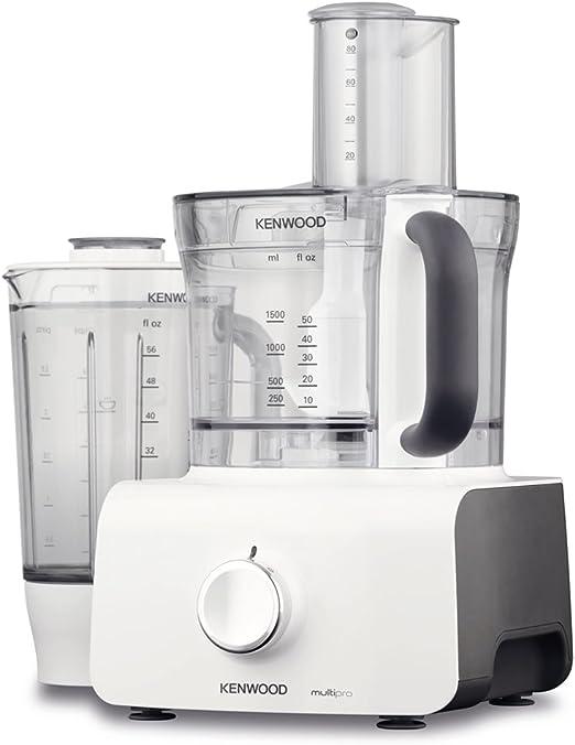 Kenwood Electronics FDP623WH 1000W 3L Gris, Color blanco - Robot de cocina (3 L, Gris, Blanco, Giratorio, 1,5 L, De plástico, 1000 W): Amazon.es: Hogar