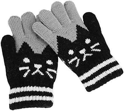 0-3 Years Thick Warm Knitted Mittens Cartoon Baby Boys Girls Winter  Gloves