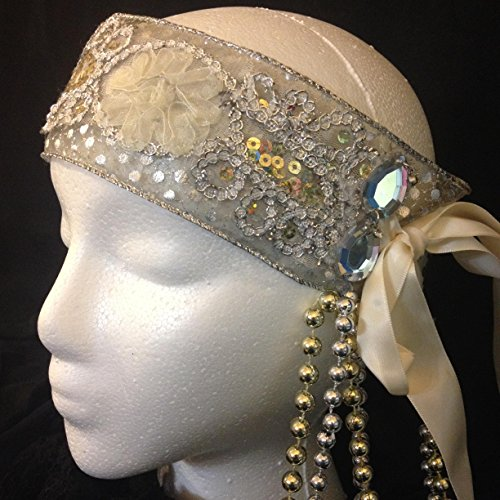 1920 Style headband, Vintage fashion, Cocktail flapper, Elegant bead Gatsby party rave wear costume headpiece charleston Speakeasy jazz edc by crooked crow masks