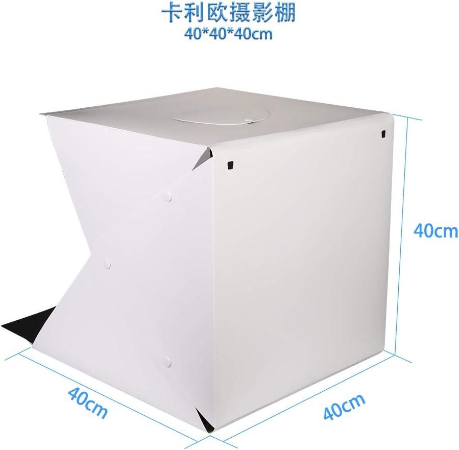 Mini caja de luz LED plegable de 20 cm y 40 cm con fondo blanco y negro, para estudio fotográfico: Amazon.es: Electrónica