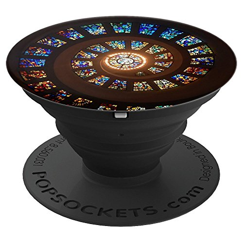 Spiral Stained Glass Window - PopSockets Grip and Stand for Phones and Tablets