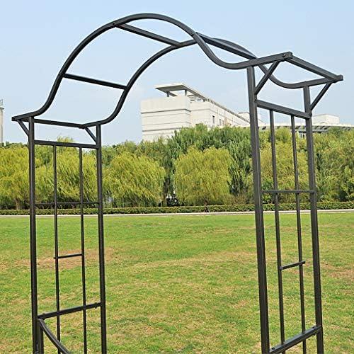 XLOO Elegante Arco de jardín con portón, Enrejado de Marco de ...