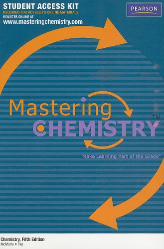 Chemistry 5th ed, MasteringCHEMISTRY Access Kit...