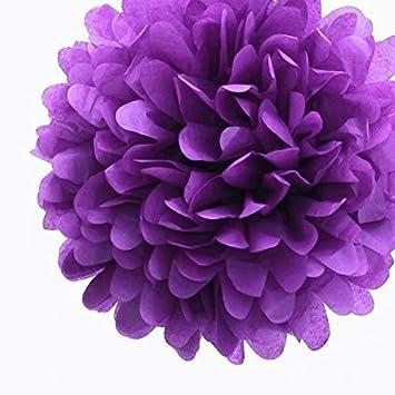 Amazon purple party paper wedding flowers 10 3 pack purple party paper wedding flowers 10quot 3 pack birthday paper tissue mightylinksfo