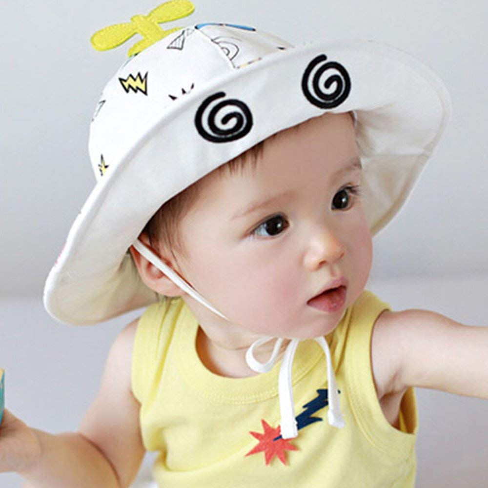 Hats & Caps Summer Beach Travel Newborn Infant Kid Baby Hat For Girl And Boy Toddler Infant Popular Sun Cap With Helicopter 2019 New Fashion Style Online Boys' Baby Clothing