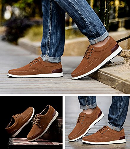 Camel Casual En Daim Sneakers Hommes Homme Mode Printemps Cuir Mocassins Adulte Chaussures Lumino 17xqpwx