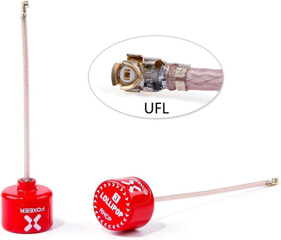 2pcs FOXEER FPV Antenna Lollipop 5.8GHz RHCP 2.5Dbi Stubby Antenna SMA for FPV Racing Drone Fatshark Goggles TX RX