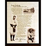 MLB New York Yankees Lou Gehrig Speech 8 x 10-Inch Plaque
