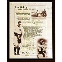 MLB New York YankeesLou Gehrig Speech 8 x 10-Inch Plaque
