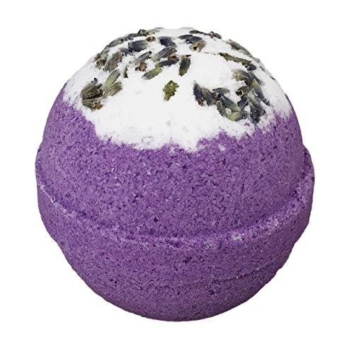 Relaxing Lavender BUBBLE Bath Bomb in Gift Box - Large Lush Spa Fizzy Kit, Gift Idea for Women, Moms, Teens, Girls - Homemade by Moms in the USA - Two Sisters Spa - Lavender Essential Oil Sweet Dreams