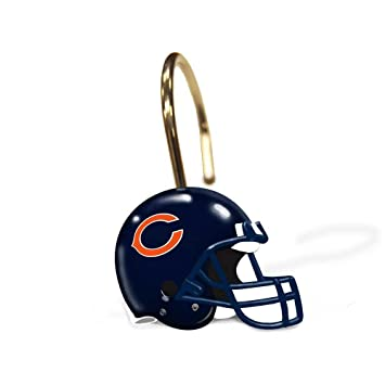 Amazon.com : Chicago Bears NFL Bathroom Shower Curtain Hooks Rings ...