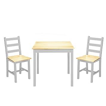 Panacasa Juegos De Mesa Y 2 Sillas Para Comedor Sala Cocina