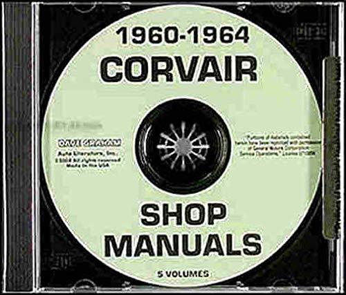 1960 1961 1962 1963 1964 CORVAIR FACTORY REPAIR SHOP & SERVICE MANUAL CD - Includes All Models Deluxe Monza 95 Corvan Greenbrier, Lakewood (Corvair Repair Manual)