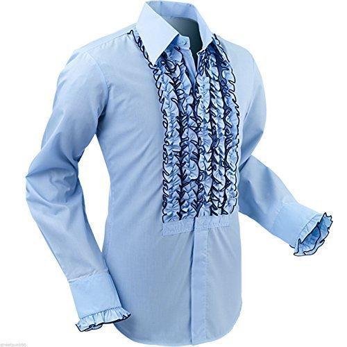 Chenaski Men's Retro Ruffle Tuxedo Shirt - Ruffled Tuxedo Shirt Shopping Results