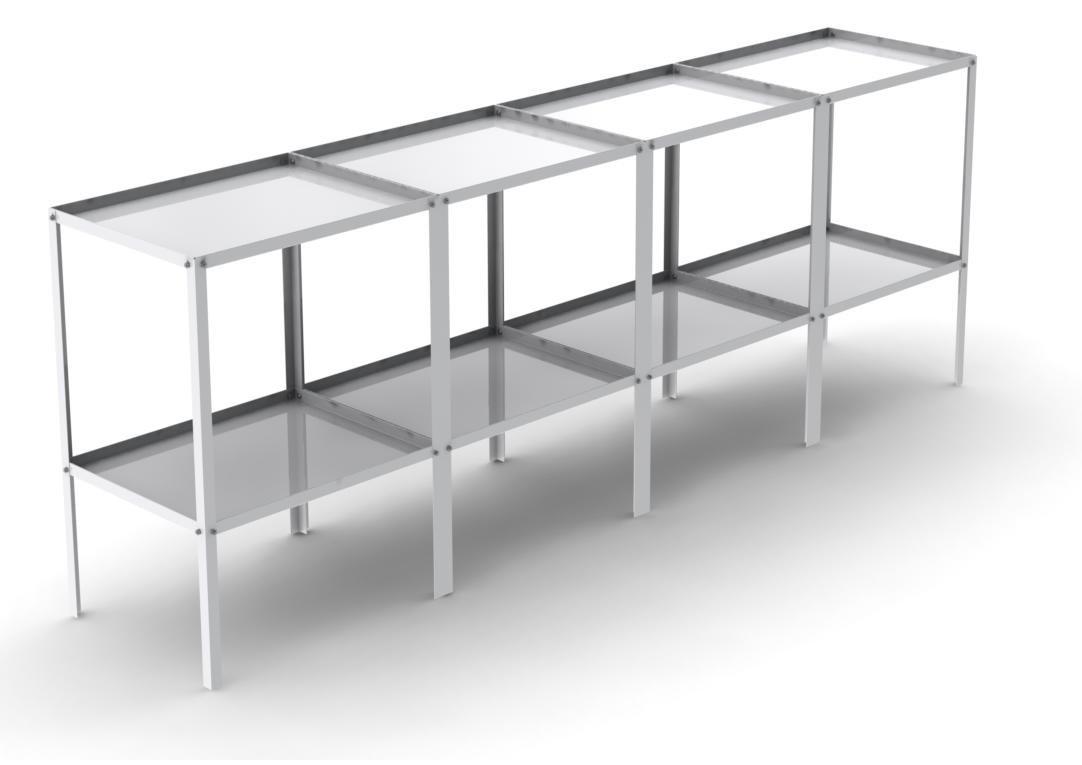 Simplicity Babbington 2 Tier Potting Tray Aluminium Greenhouse Staging 8ft x 18