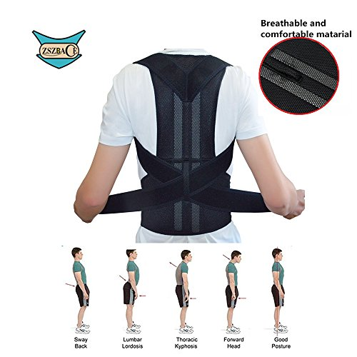 Posture Corrector for Women Men - Thoracic Posture Brace - Comfortable Adjustable Clavicle Posture Support - Improve Kyphosis Brace - Back Posture Trainer - Upper Back support S-XXL (S) (Best Way To Sleep With Thoracic Back Pain)