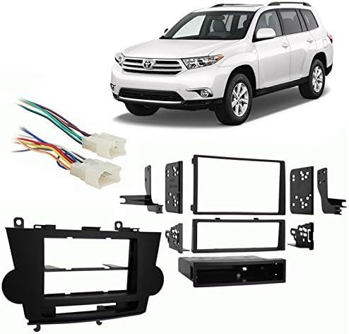 Double DIN Installation Kit for 2008-2009 Toyota Highlander Vehicles Metra Single DIN