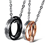 Best KONOV Friends Girl Necklaces - KONOV 2pcs Mens Womens CZ Couples Stainless Steel Review