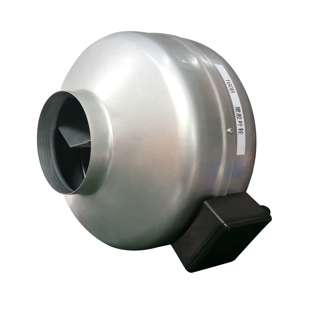 Oxberg Inline Duct Fan, Centrifugal Fan, Ventilation Fan (Metal, 4'')
