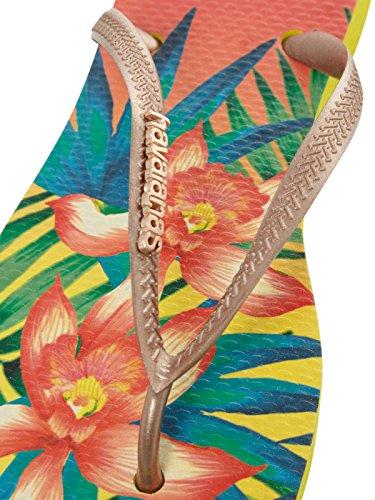 Tropical Tongs Femme Beige Havaianas Slim 7nxw6Z4qqt